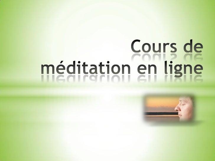 Les enseignements de notre cours deméditation en ligne sont présentéspar Paul Beaudry. Paul dirige sonécole de méditation ...