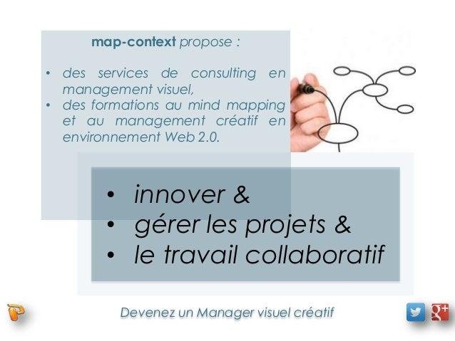 map-context propose :• des services de consulting en  management visuel,• des formations au mind mapping  et au management...