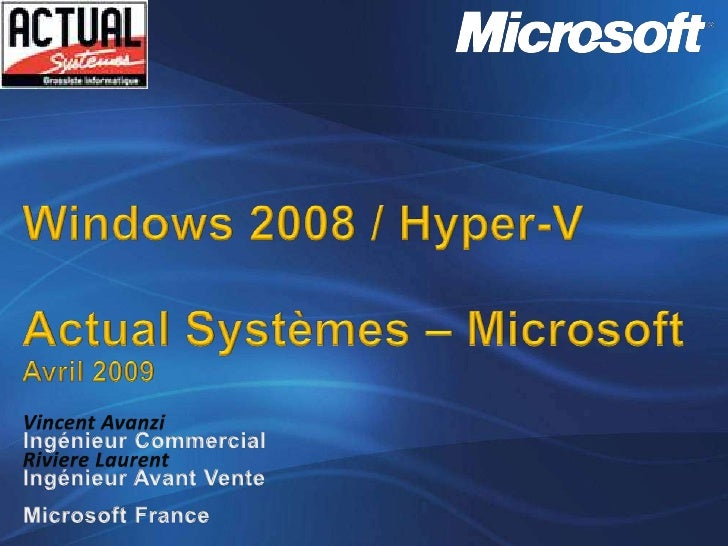 Microsoft - Solution Virtualisation Windows Server 08