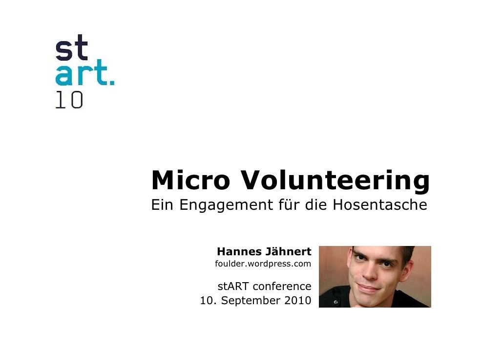 Präsentation micro volunteering slideshare version
