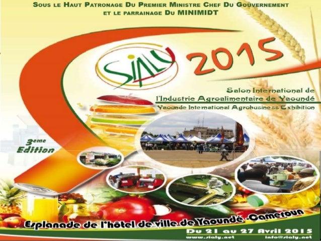 L'agrobusiness et la noblesse de ses métiers, et ses accomplissements HOTEL AKWA PALACE-DOUALA (12-14 février 2015) par Mm...