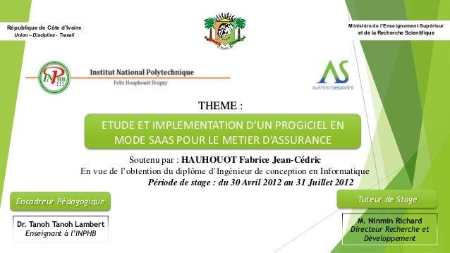 République de Côte d'Ivoire                                                                          Ministère de l'Enseig...