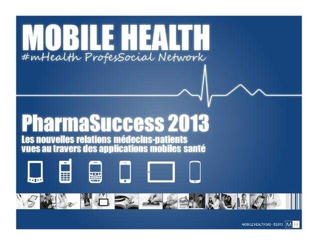 Présentation Mobile Health-Pharmasuccess 2013