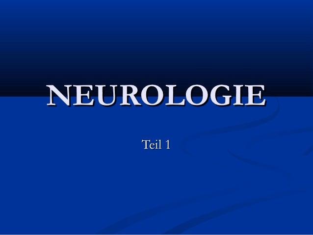 NEUROLOGIE    Teil 1