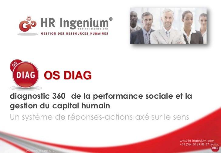 OS DIAGdiagnostic 360 de la performance sociale et lagestion du capital humainUn système de réponses-actions axé sur le se...