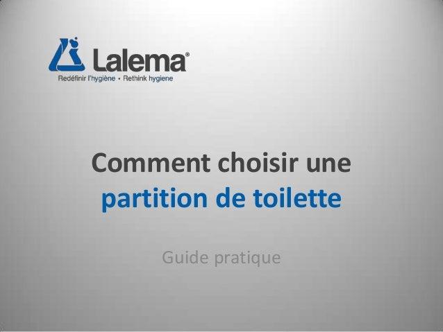 Comment choisir une partition de toilette Guide pratique