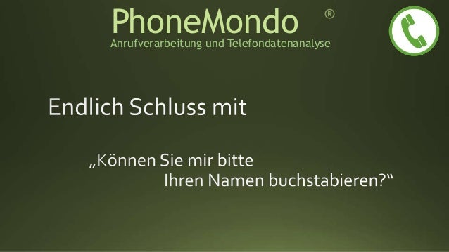 PhoneMondoAnrufverarbeitung und Telefondatenanalyse