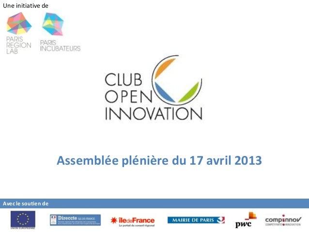 Présentation PwC au Club de l'Open Innovation 2013