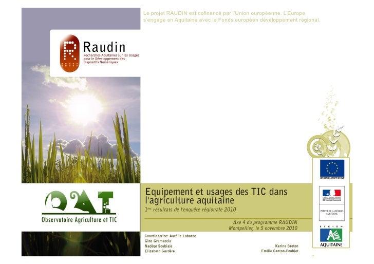 Les Rencontres                  QualiméditerranéeAxe 4 du programme RAUDIN