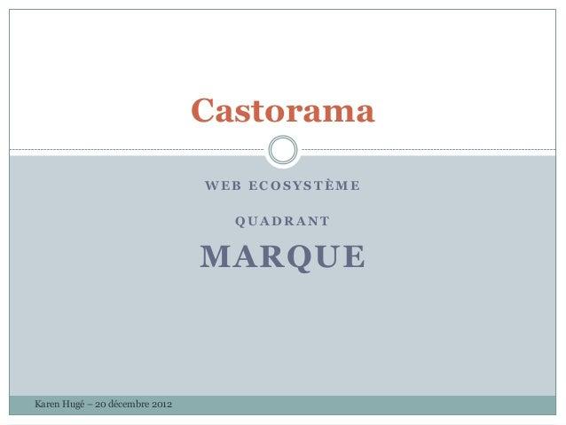 Castorama                                WEB ECOSYSTÈME                                  QUADRANT                         ...
