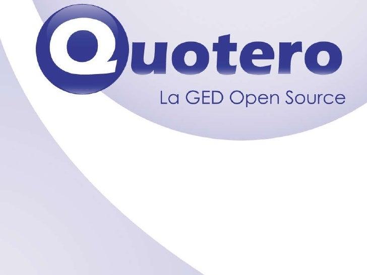 Présentation Quotero