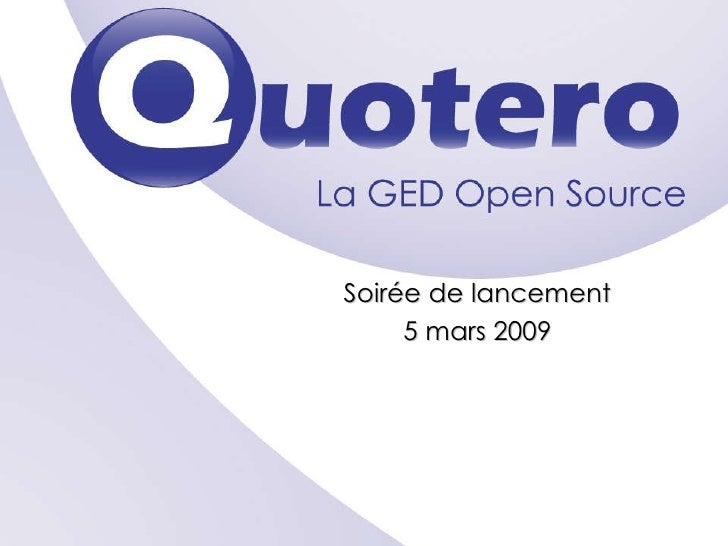 Soirée de lancement 5 mars 2009