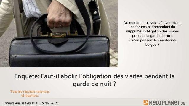 Enquête: Faut-il abolir l'obligation des visites pendant la garde de nuit ? De nombreuses voix s'élèvent dans les forums e...