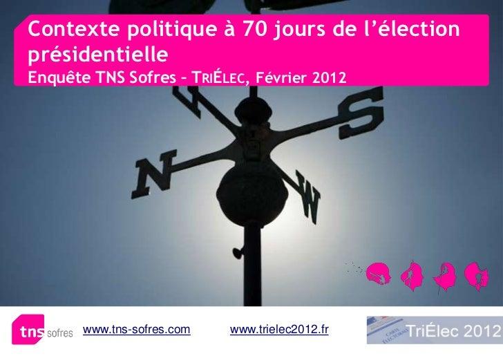 Contexte politique à 70 jours de l'électionprésidentielleEnquête TNS Sofres – TRIÉLEC, Février 2012       www.tns-sofres.c...