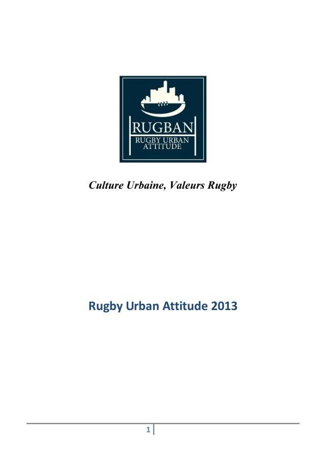 Rugby Urban Attitude 2013         1
