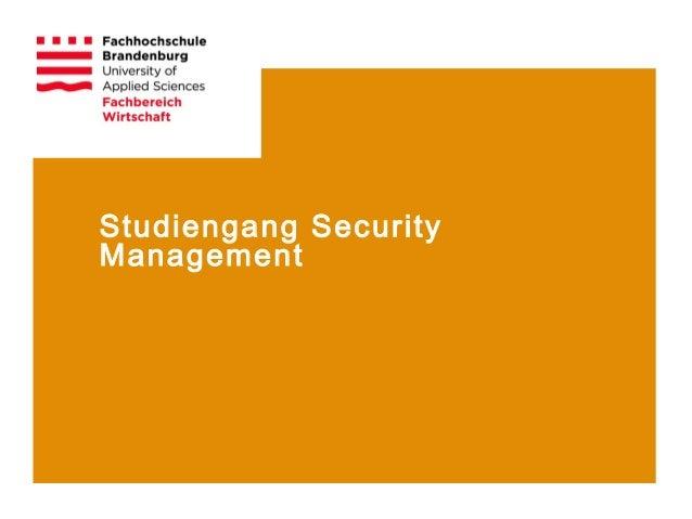 Studiengang SecurityManagement