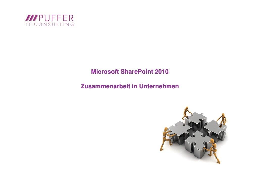 Microsoft SharePoint 2010Zusammenarbeit in Unternehmen