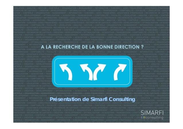 Présentation de Simarfi Consulting