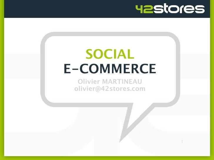 Présentation Social E Commerce