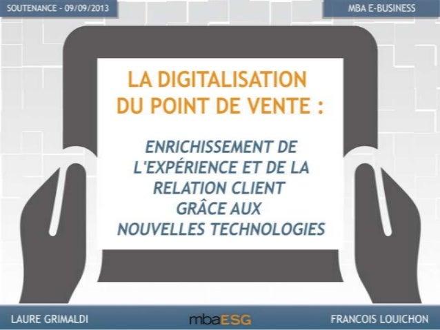 I. La digitalisation • Tendances d'utilisation en France et en chiffres • Principes de la digitalisation II. Robotisation ...