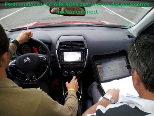 Essai routier sur C4 AIRCROSS avec lecture des paramètres moteur en direct