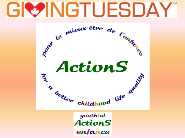 A BIG THANK YOU from youthful ActionS  for your  GENEROSITY st 1  In this Giving Tuesday rd 2013 of December 3