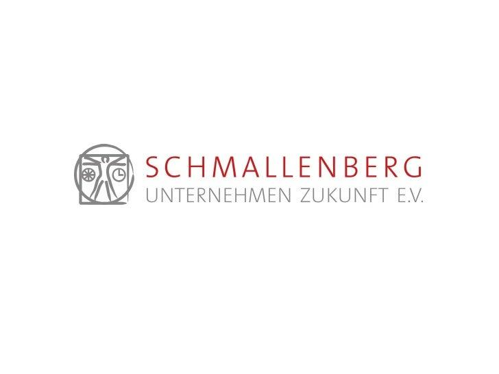 Präsentation Schmallenberg Unternehmen Zukunft e.V.