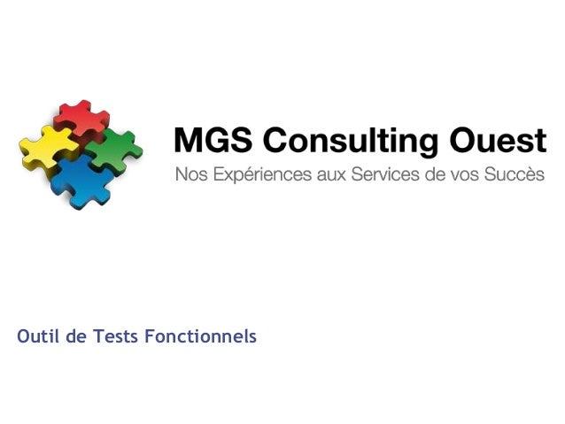 Présentation Tests Fonctionnels
