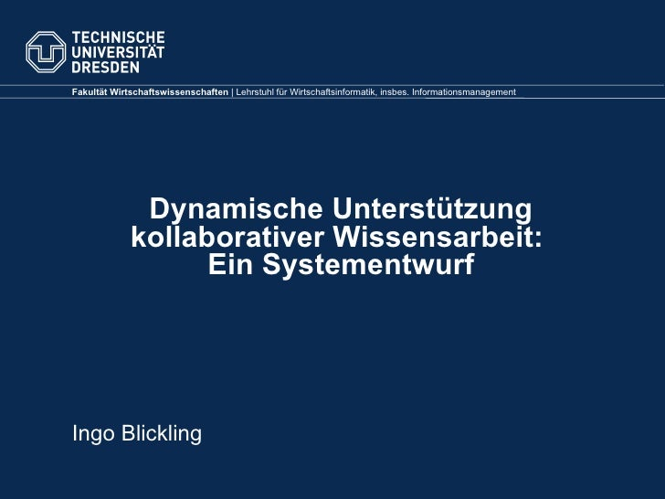 Diplomverteidigung Blicking