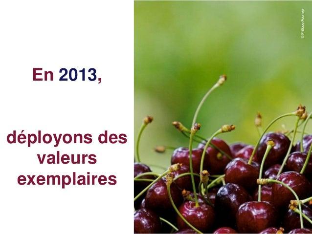 © Philippe Fournier  En 2013,déployons des   valeurs exemplaires