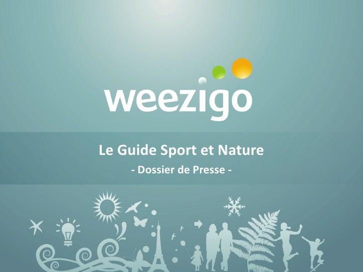 Le Guide Sport et Nature     - Dossier de Presse -