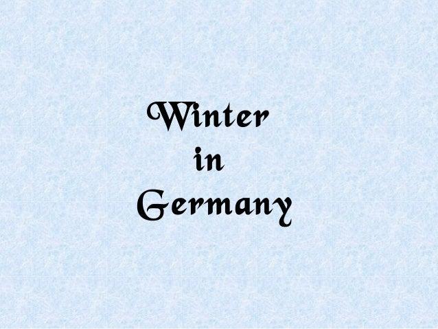 Winter  inGermany