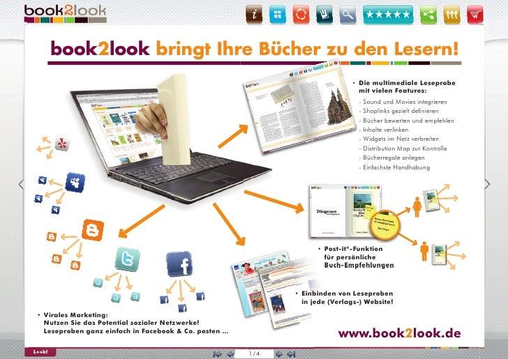 book2look bringt Ihre Bücher zu den Lesern!                                             Le                                ...