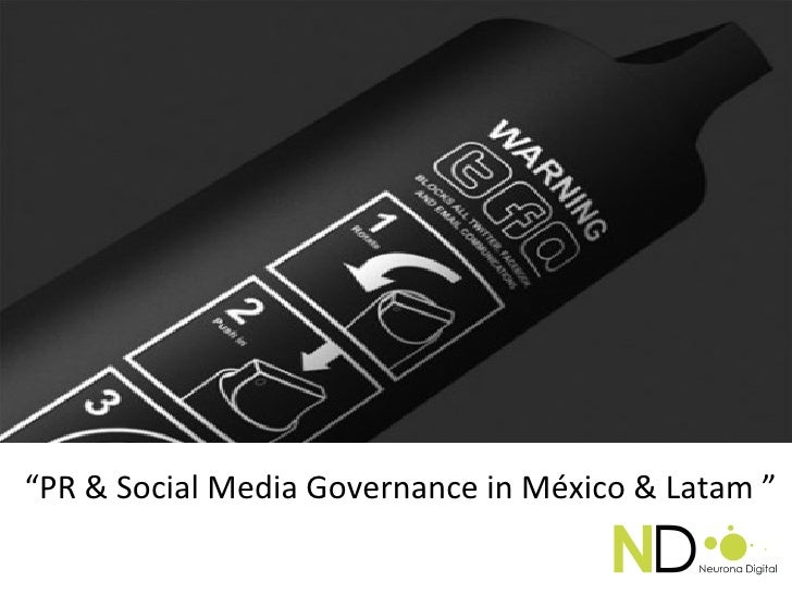 PR Social Media Governance por Engel Fonseca en 5° Congreso PRORP 2012