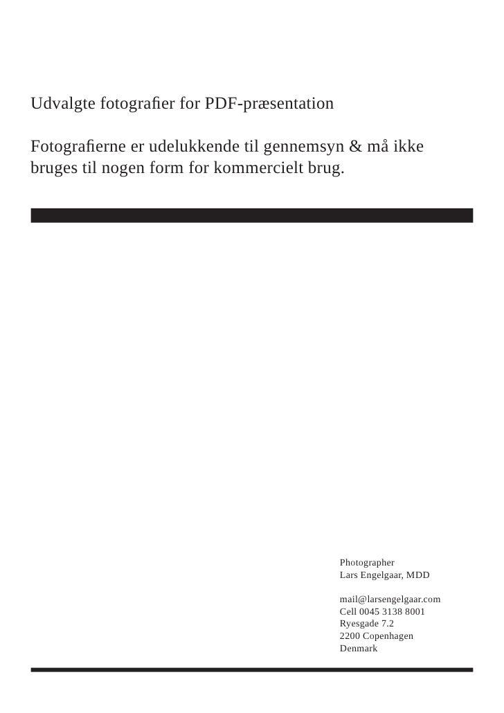 Udvalgte fotografier for PDF-præsentation  Fotografierne er udelukkende til gennemsyn & må ikke bruges til nogen form for ...