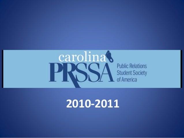PRSSA Meeting - Introduction to Carolina PRSSA