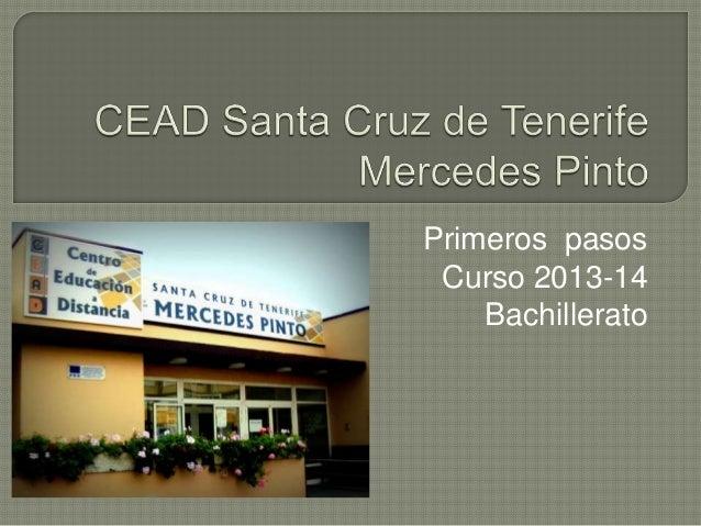 Presentación curso 13-14 CEAD Santa Cruz de Tenerife Mercedes Pinto