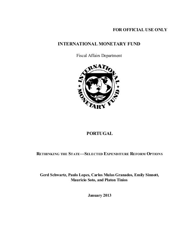 FOR OFFICIAL USE ONLY          INTERNATIONAL MONETARY FUND                    Fiscal Affairs Department                   ...
