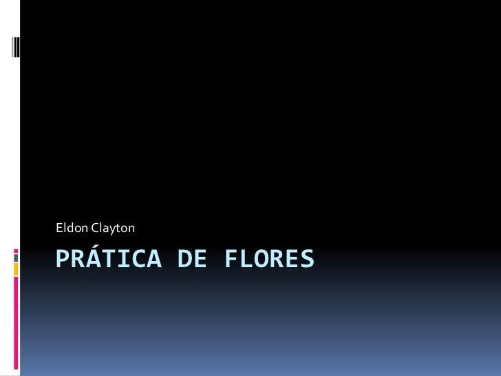 Prática de flores<br />Eldon Clayton<br />