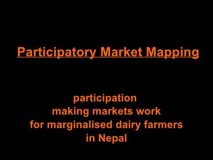 Participatory Market Mapping, Nepal 2009