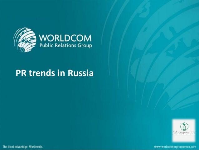 PR trends in Russia