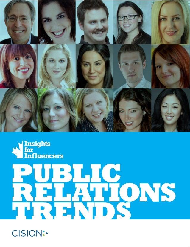 PUBLIC RELATIONS TRENDS