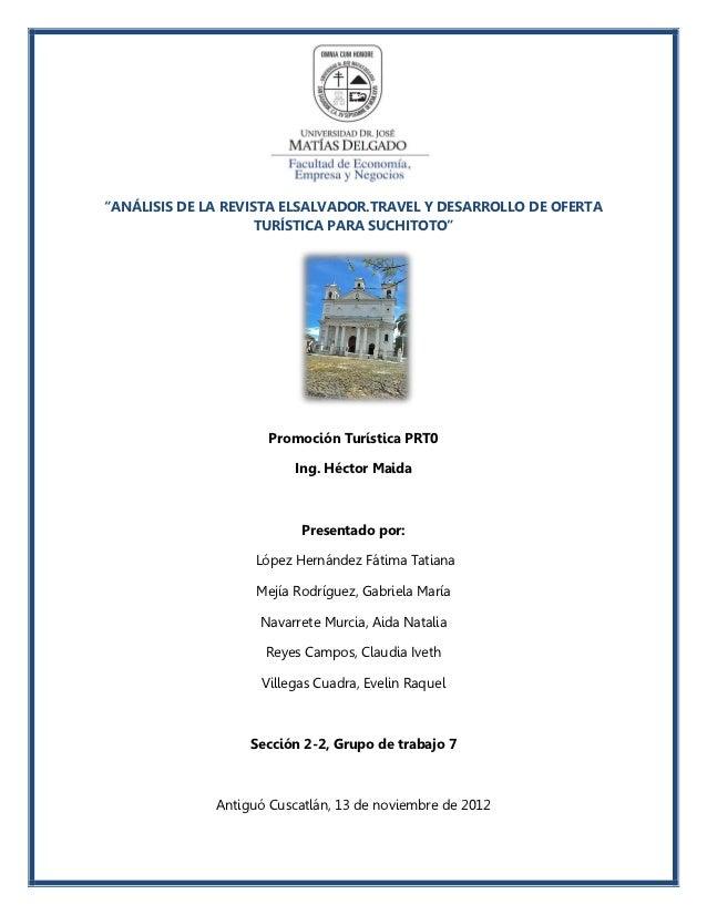 Oferta Turistica Suchitoto, Cuscatlan