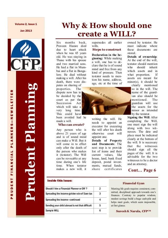 Prudent newsletter  jan 2013 edition