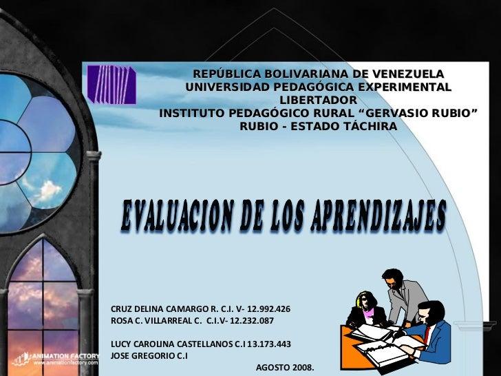 CRUZ DELINA CAMARGO R. C.I. V- 12.992.426 ROSA C. VILLARREAL C.  C.I.V- 12.232.087  LUCY CAROLINA CASTELLANOS C.I  13.173....