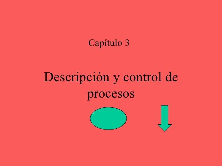 Descripción y control de procesos Capítulo 3