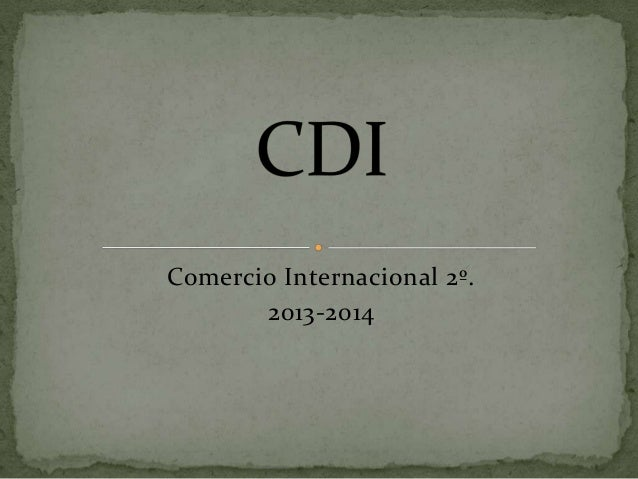 Comercio Internacional 2º. 2013-2014