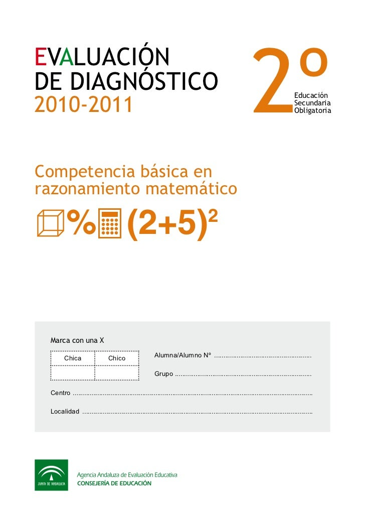 2ºEVALUACIÓNDE DIAGNÓSTICO2010-2011                                                                                       ...