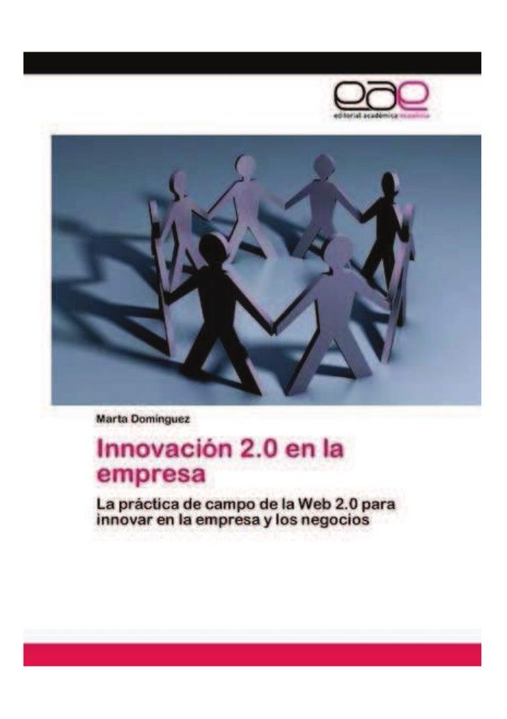 Innovación 2.0 en la empresa - Portada, índice, introducción y contraportada, Marta Domínguez