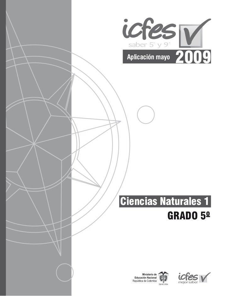 Aplicación mayo                   2009Ciencias Naturales 1          GRADO 5º